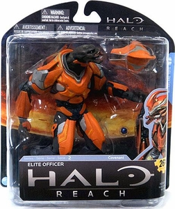 Halo Reach McFarlane Toys Series 2 Action Figure ORANGE Elite Officer