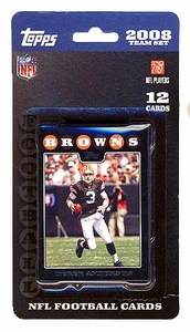 Topps NFL Football Cards 2008 Cleveland Browns Team Set
