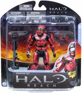 Halo Reach McFarlane Toys Series 2 Action Figure TEAM RED Spartan CQC Custom {Male}