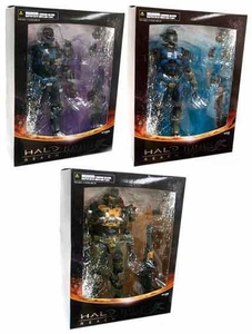 Halo Reach Square Enix Play Arts Kai Series 2 Set of 3 Action Figures [Carter, Kat & Jorge]