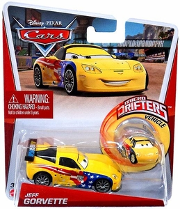 Disney / Pixar CARS Movie Micro Drifters & 1:55 Die Cast Car Jeff Gorvette