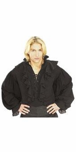 Rubie's Halloween Costume #1157 Black Linen Gauze Pirate Shirt [Adult Size Standard]