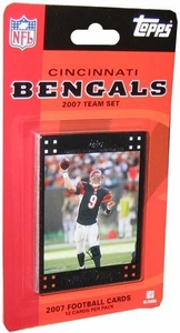 Topps NFL Football Cards 2007 Cincinnati Bengals Team Set