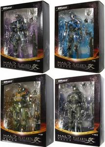 Halo Reach Square Enix Play Arts Kai Set of 4 Noble Six Action Figures [Carter, Jorge, Kat & Noble 6]
