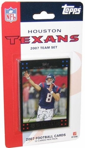 Topps NFL Football Cards 2007 Houston Texans Team Set