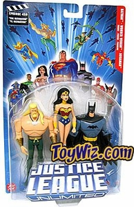 Justice League Unlimited Series 2 Action Figure 3-Pack Batman, Wonder Woman & Aquaman