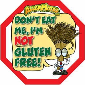 Wheat/Gluten Alert Labels for Food Packages 24 Pack