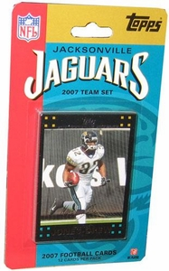Topps NFL Football Cards 2007 Jacksonville Jaguars Team Set