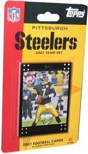 Topps NFL Football Cards 2007 Pittsburgh Steelers Team Set
