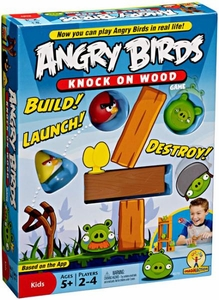 Mattel Angry Birds Board Game Knock On Wood
