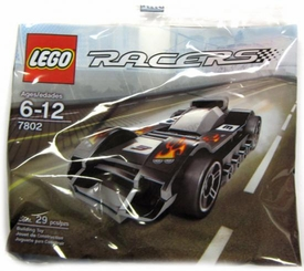 LEGO Racers Mini Figure Set #7802 Le Mans {Black & Gray} [Bagged]