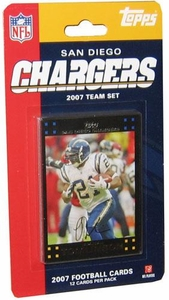 Topps NFL Football Cards 2007 San Diego Chargers Team Set