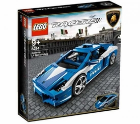 LEGO Racers Exclusive Set #8214 Police Lamborghini Gallardo [Blue]