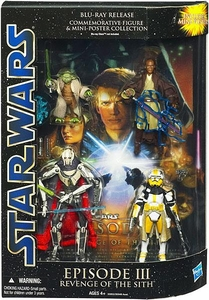 Star Wars Saga Blu-Ray Commemorative Action Figure 4-Pack Episode III Revenge Of The Sith [General Grievous, Yoda, Mace Windu & Commander Bly]