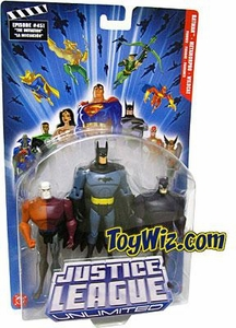 Justice League Unlimited Series 4 Action Figure 3-Pack Metamorpho, Batman & Wildcat