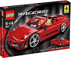 LEGO Racers Set #8671 Ferrari 430 Spider 1:17