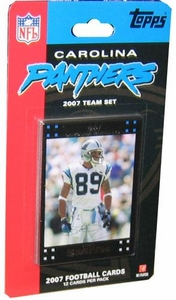 Topps NFL Football Cards 2007 Carolina Panthers Team Set