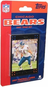 Topps NFL Football Cards 2007 Chicago Bears Team Set