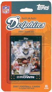 Topps NFL Football Cards 2007 Miami Dolphins Team Set