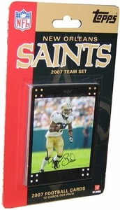 Topps NFL Football Cards 2007 New Orleans Saints Team Set