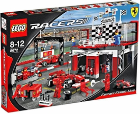 LEGO Racers Set #8672 Ferrari Finish Line