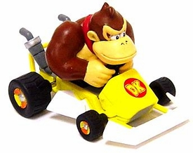 Super Mario Kart BanPresto Mini Figure Donkey Kong in Go-Kart