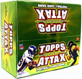 Topps 2010 Attax Card Game NFL National Football League Booster BOX [36 Packs]