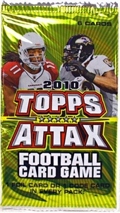Topps 2010 Attax Card Game NFL National Football League Booster Pack