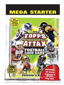 Topps 2010 Attax Card Game NFL National Football League Mega Starter Deck Set