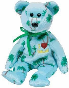 Ty Beanie Baby I Love Hawaii the Bear