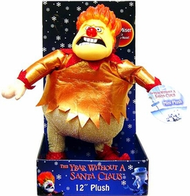 NECA The Year Without Santa Claus 12 Inch Deluxe Plush Heat Miser with Light Up Nose