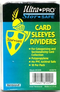Ultra Pro Card Supplies10 Card Dividers