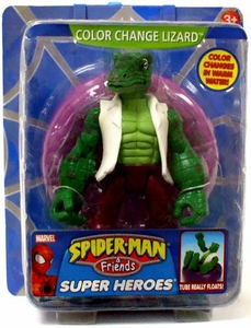 Spider-Man & Friends Super Heroes Action Figure Color Changing Lizard