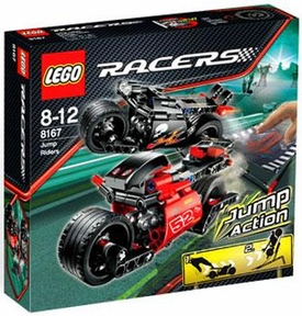 LEGO Racers Set #8167 Jump Riders Damaged Packaging, Mint Contents!