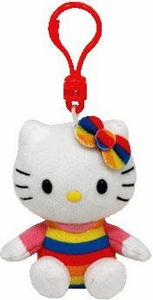 Ty Beanie Baby Hello Kitty Clip On Cupcake