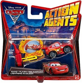 Disney / Pixar CARS 2 Movie Action Agents Lightning McQueen