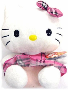 Ty Hello Kitty Beanie Baby Plaid Tartan [No Purse]