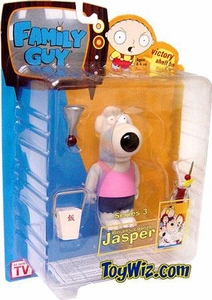 Mezco Family Guy Series 3 Action Figure Jasper [Pink Shirt Variant]