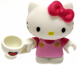 Hello Kitty Mega Bloks LOOSE Series 2 Mini Figure Tea Time Kitty
