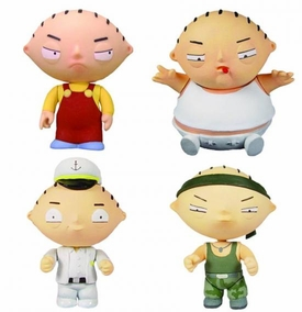 Mezco Toyz Family Guy Stewie Griffin Action Figure Box Set [Stewie, Sexy Party, XXXL & Commando]