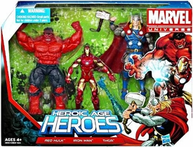 Marvel Universe 3.75 Inch Action Figure 3-Pack Heroic Age Heroes Super Team [Red Hulk, Iron Man & Thor]