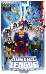 Justice League Unlimited Series 3 Action Figure 3-Pack Superman, Martian Manhunter & Booster Gold