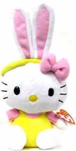 Ty Hello Kitty Beanie Baby Yellow Bunny