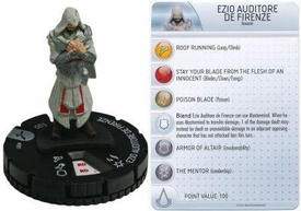 Heroclix Assassin's Creed Brotherhood Single Figure & Card #001 Ezio Auditore De Firenze
