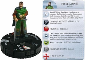 Heroclix Assassin's Creed Revelations Single Figure & Card #002 Prince Ahmet