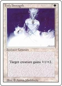 Magic the Gathering Revised Edition Single Card Common Holy Strength