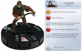 Heroclix Assassin's Creed Brotherhood Single Figure & Card #003 La Volpe