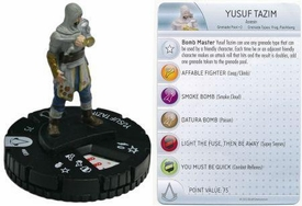 Heroclix Assassin's Creed Revelations Single Figure & Card #003 Yusef Tazim