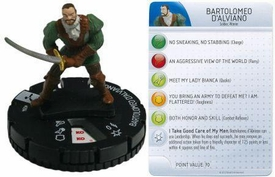 Heroclix Assassin's Creed Brotherhood Single Figure & Card #004 Bartolomeo D'Alviano