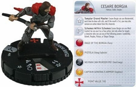 Heroclix Assassin's Creed Brotherhood Single Figure & Card #004 Cesare Borgia